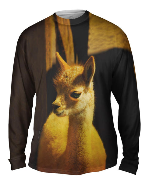 Cute Baby Llama Mens Long Sleeve