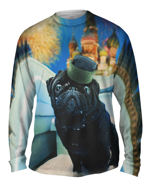 Snow Kremlin Pug Mens Long Sleeve