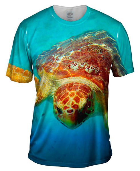 Deep Sea Turtle Mens T-Shirt