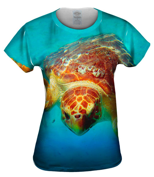 Deep Sea Turtle Womens Top