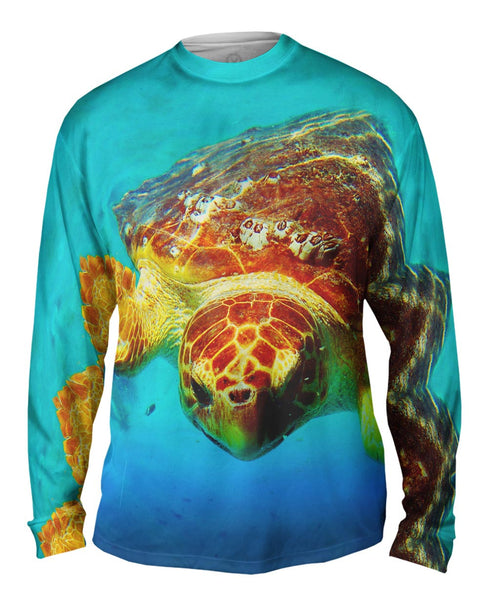 Deep Sea Turtle Mens Long Sleeve
