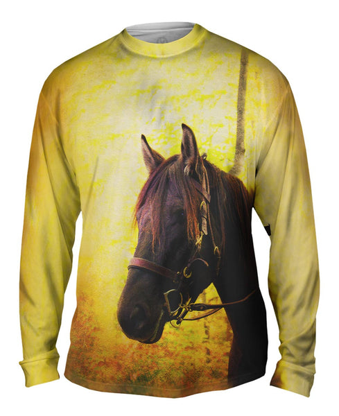 Yellow Pride Horse Mens Long Sleeve