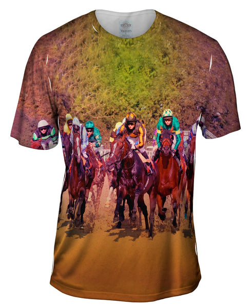 Race Horse Fight Mens T-Shirt