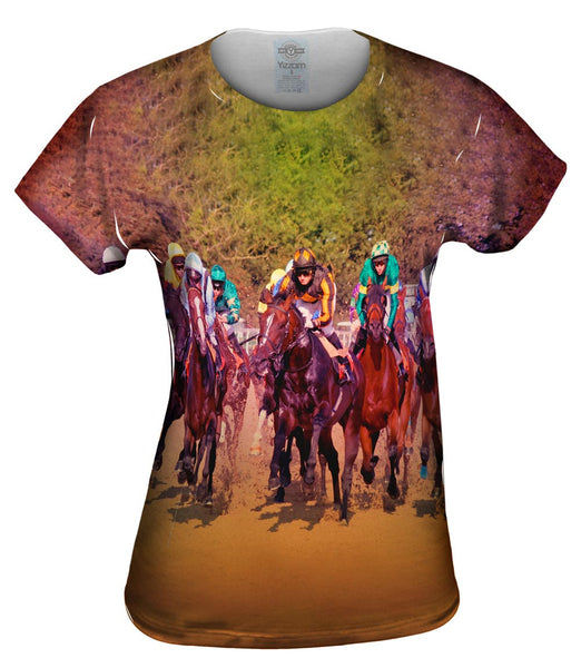 Race Horse Fight Womens Top