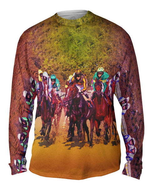Race Horse Fight Mens Long Sleeve
