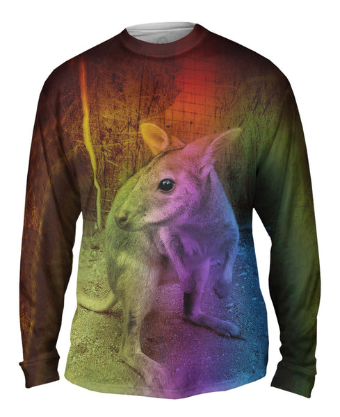 Cute Baby Kangaroo Mens Long Sleeve