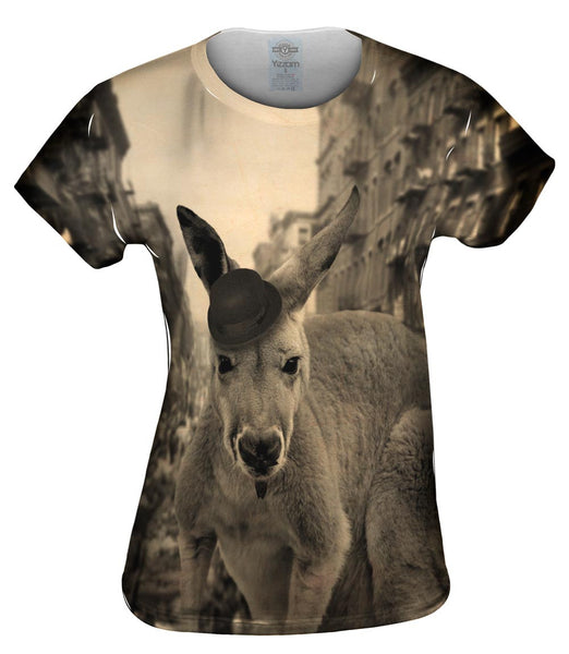 Mustache Kangaroo Womens Top