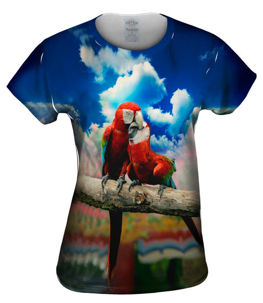 Love Kiss Macaw Womens Top
