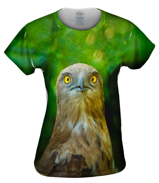 Yellow Eye Hawk Womens Top