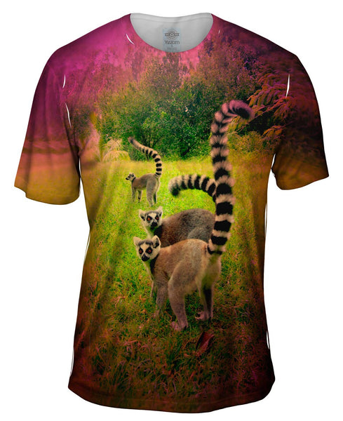 Trio Jungle Lemur Mens T-Shirt