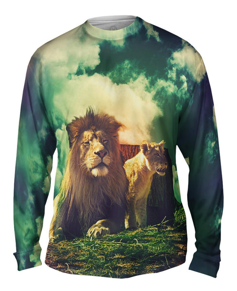 Wild Couple Lion Lioness Mens Long Sleeve
