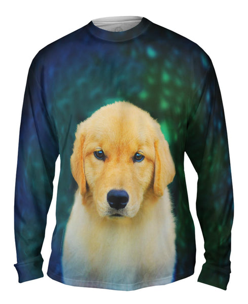 Golden Retriever Cute Puppy Mens Long Sleeve