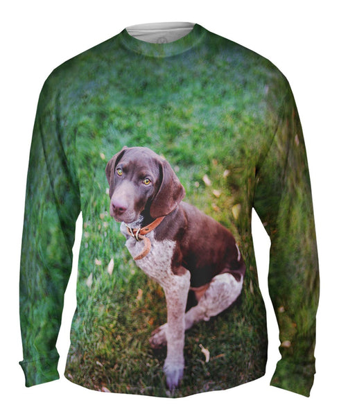 German Shorthaired Pointer Look Mens Long Sleeve