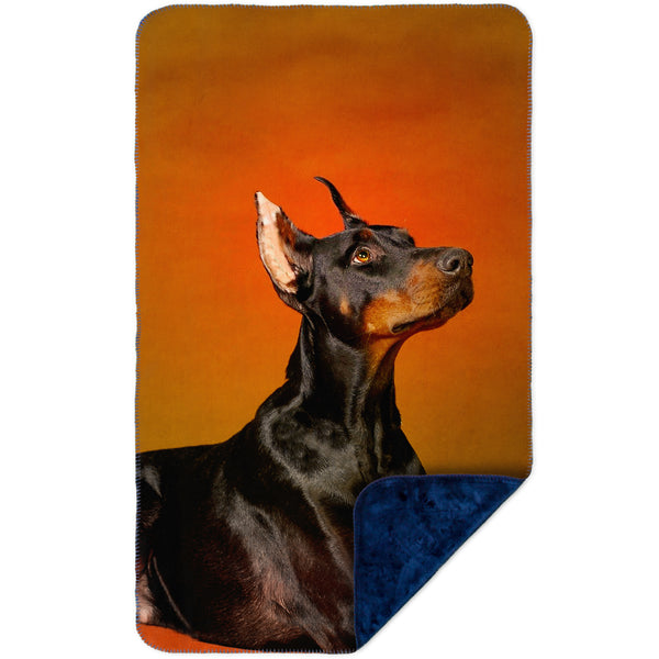 Doberman Pinscher Rouge MicroMink(Whip Stitched) Navy