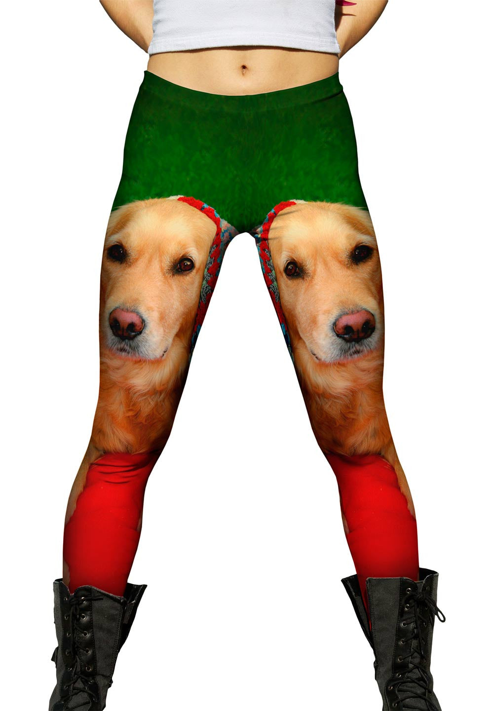 f884d9bbb32eb Golden Retriever Blanket Womens Leggings | Yizzam