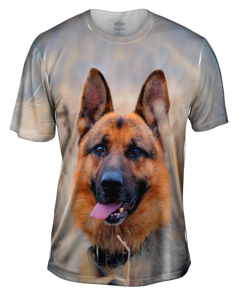 Happy German Shepard Mens T-Shirt