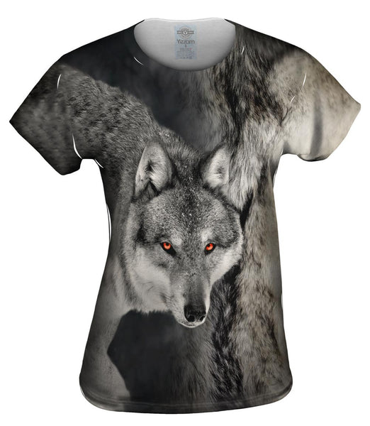 Gray Wolf Half Skin Womens Top