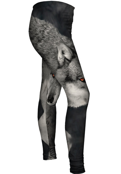 Gray Wolf Half Skin Womens Leggings