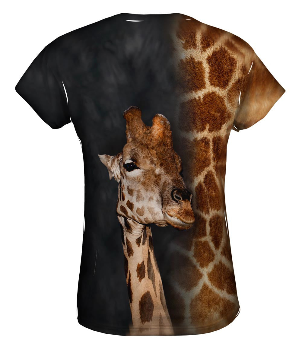 Giraffe Half Skin Womens Top  57395c256