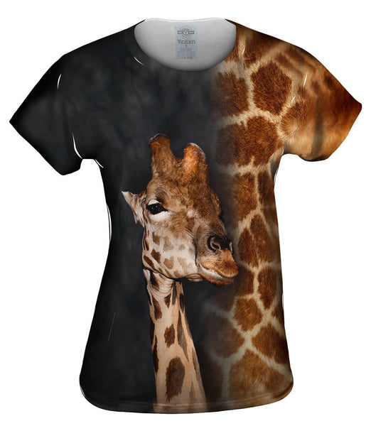 Giraffe Half Skin Womens Top