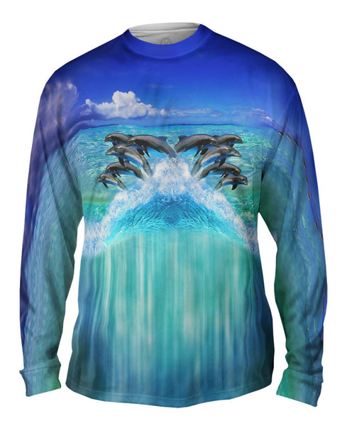 Dolphin Half Skin Mens Long Sleeve