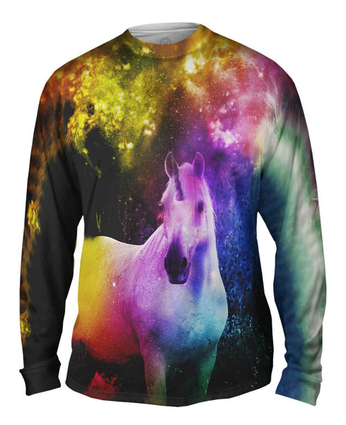 Galaxy Unicorn Mens Long Sleeve