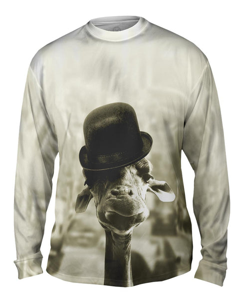 Giraffe Hat Mens Long Sleeve