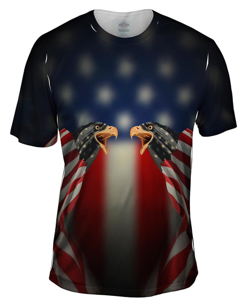 Flag Eagles Mens T-Shirt
