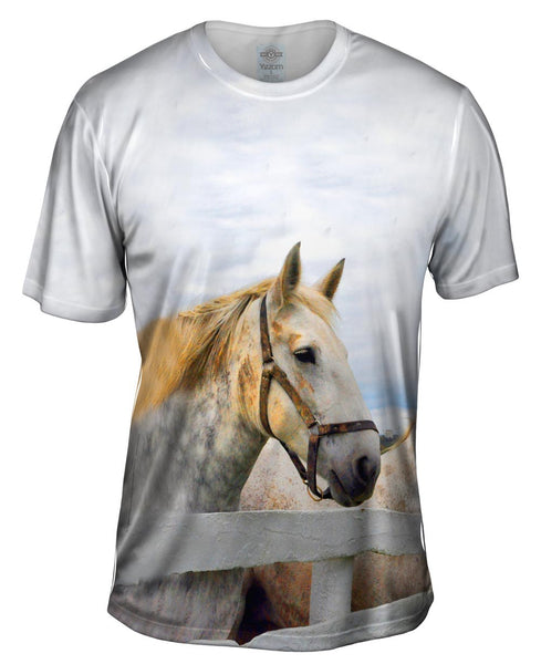Yellow Mane Horse Mens T-Shirt
