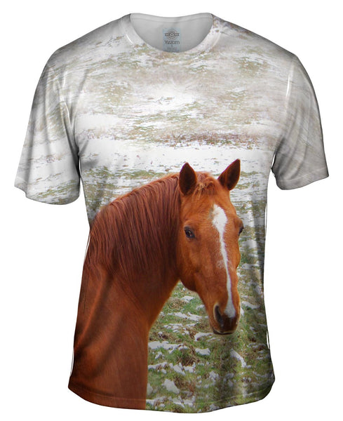 Horse Looking Back Mens T-Shirt