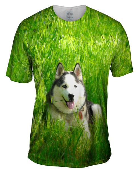 Warm Sunshine Husky Mens T-Shirt