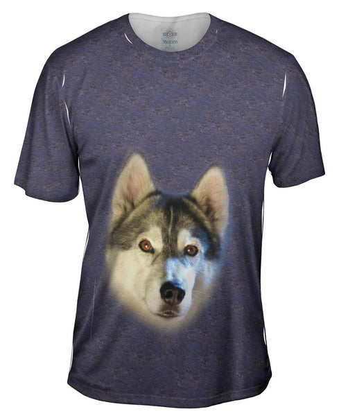 Portrait Husky Mens T-Shirt