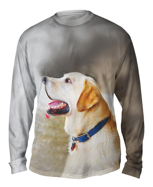 Doggy Looks Up Mens Long Sleeve