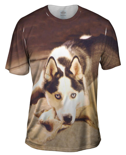 Serious Husky Mens T-Shirt