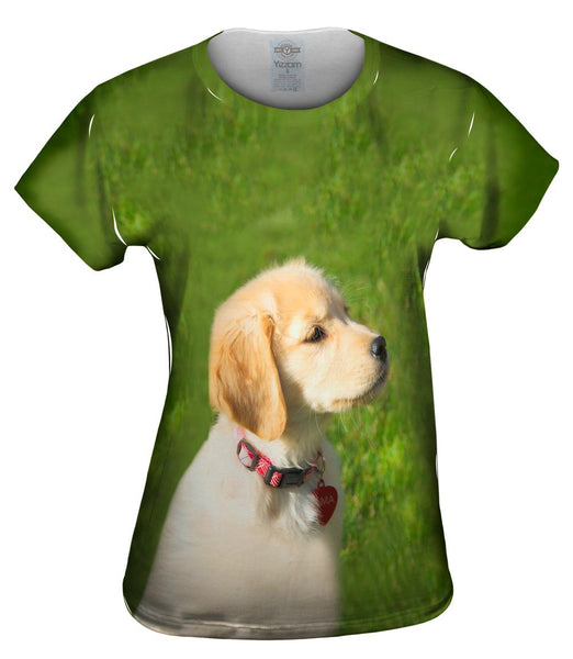 Dreamy Yellow Labrador Puppy Womens Top