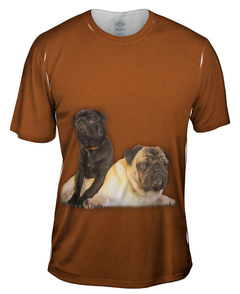 Pair Of Relaxing Pugs Mens T-Shirt