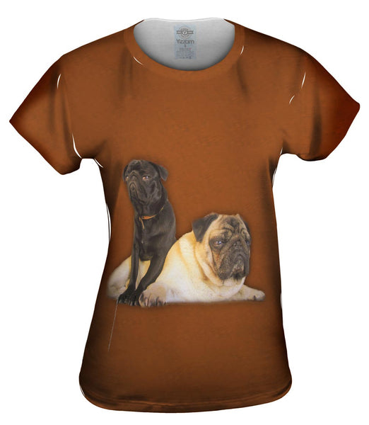 Pair Of Relaxing Pugs Womens Top