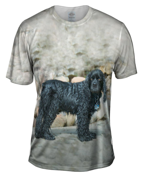 Sad Wet Cocker Spaniel Mens T-Shirt