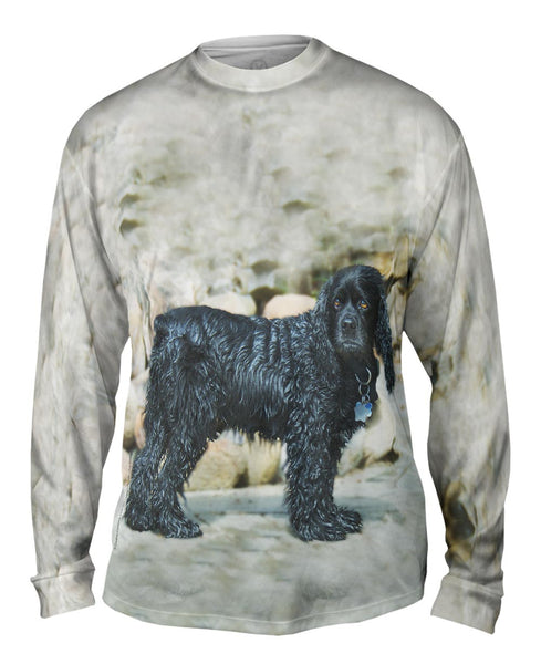 Sad Wet Cocker Spaniel Mens Long Sleeve