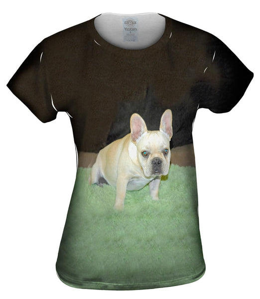 Grassy Pug Womens Top
