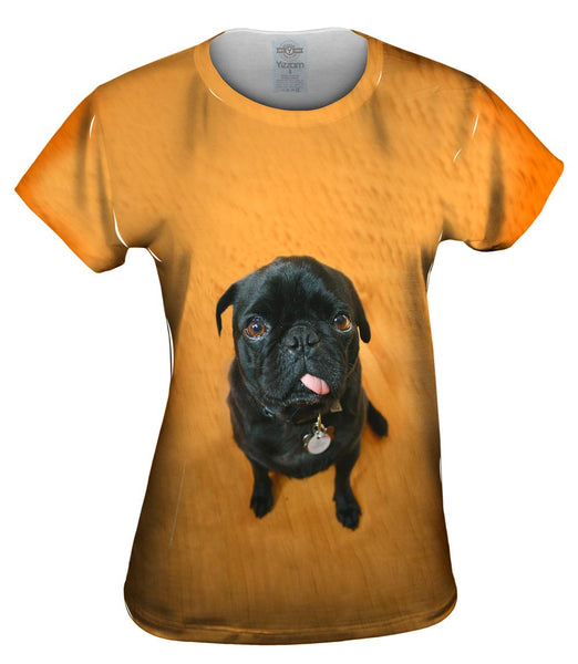 Mini Pug Womens Top