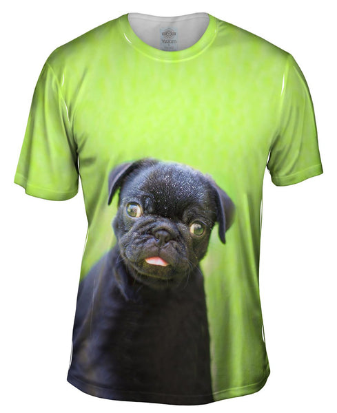 Dark Baby Pug Mens T-Shirt