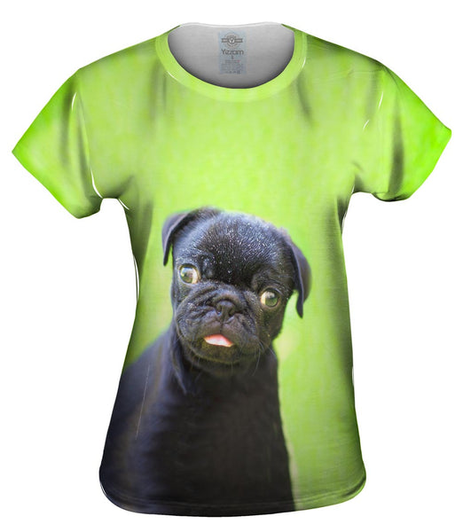 Dark Baby Pug Womens Top