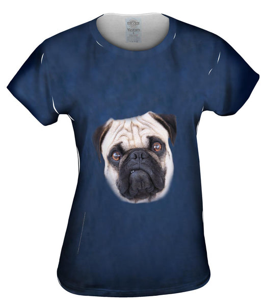 I Mean Business Pug Womens Top