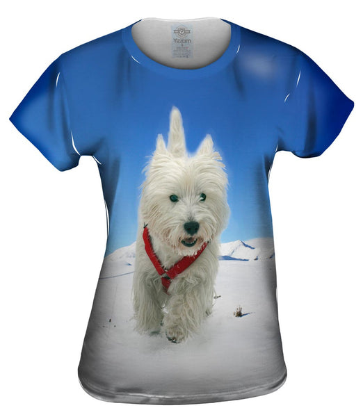 Super Giant White Terrier Womens Top
