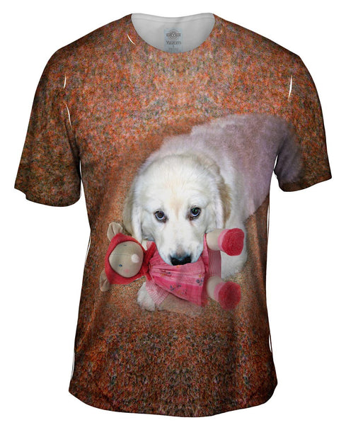 Chew Toy Labrador Mens T-Shirt
