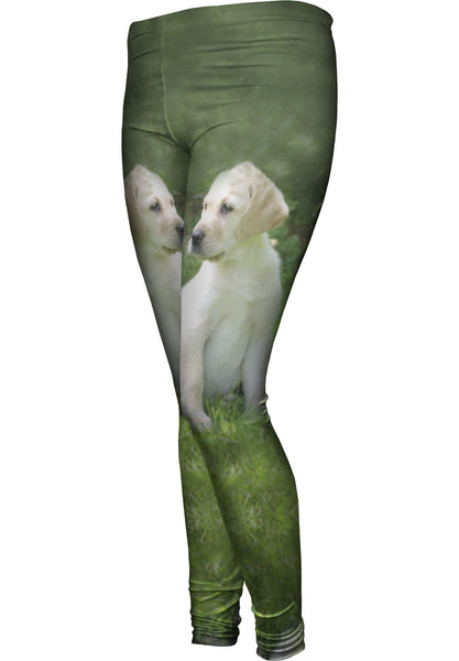 Young Golden Lab Womens Leggings