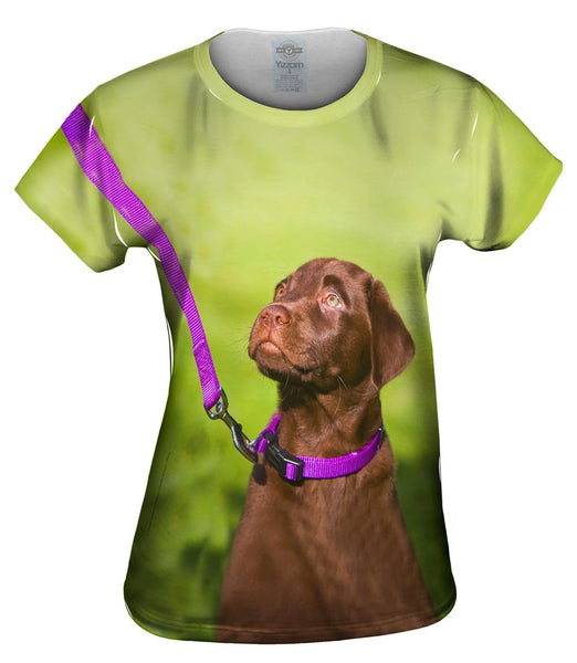 Obedient Chocolate Lab Womens Top