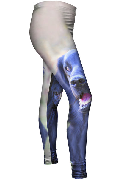 Happy Black Lab Womens Leggings