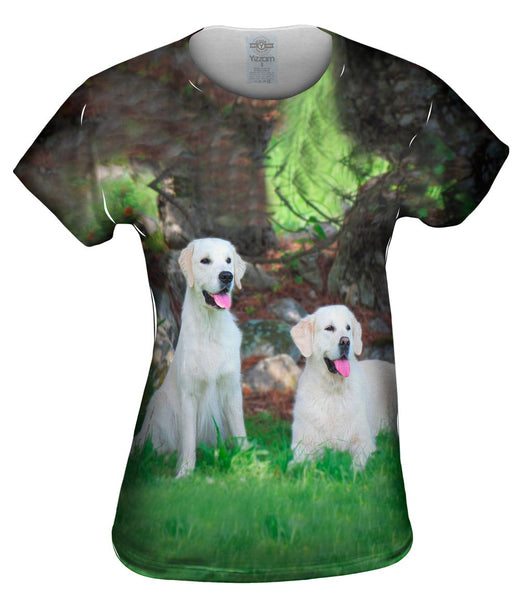 White Lab Buddies Womens Top
